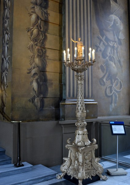 Candle Statue - Painted Hall - Naval College - Greenwich