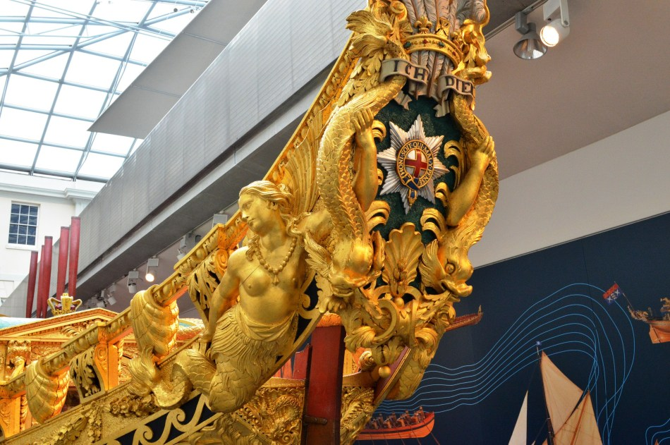 Prow of Gold Barge - Maritime Museum.