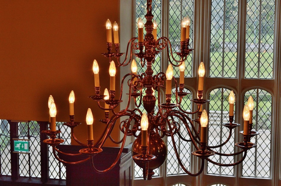 Chandelier at Hall Place