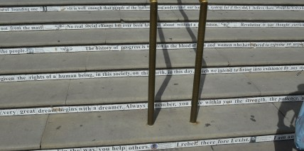 Words on V & A Stairs