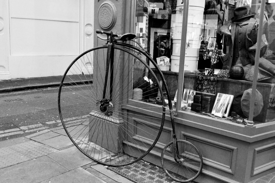 Peny Farthing Bicycle - B and W