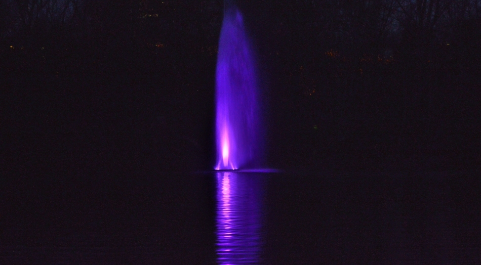 St James Park Fountain at Night