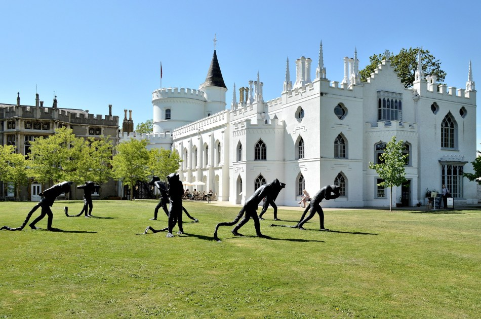 Strawberry Hill House and Figures