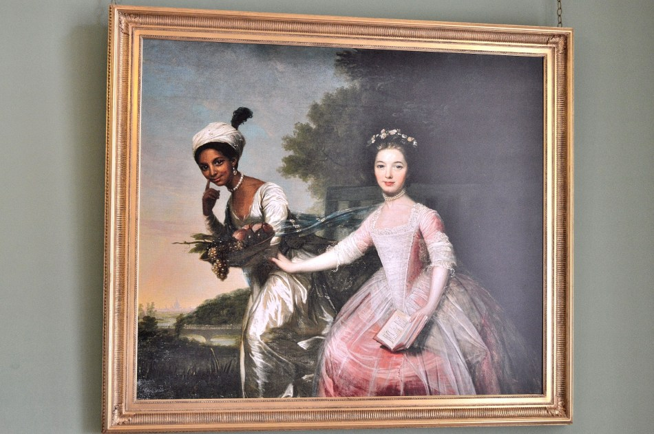 Dido Elizabeth Belle and Lady Elizabeth Murray by Johann Zoffany at Kenwood House