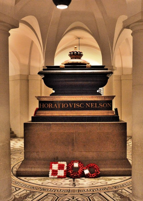 Horation Nelson at St Paul's Cathedral