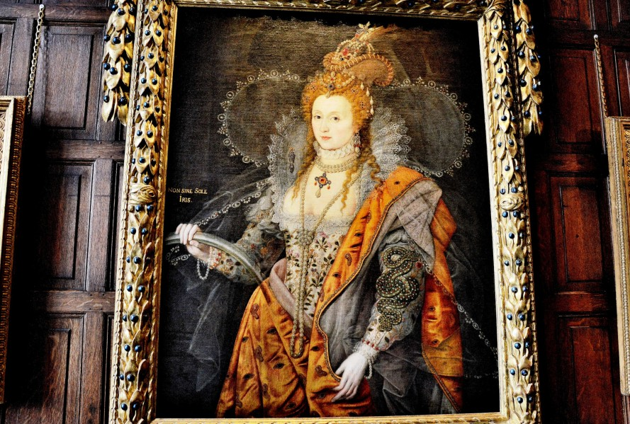 Elizabeth I Rainbow Painting at Hatfield House