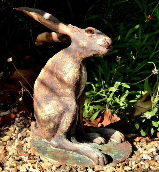 Moon Gazing Hare by Alan Wallis at Wisley Gardens