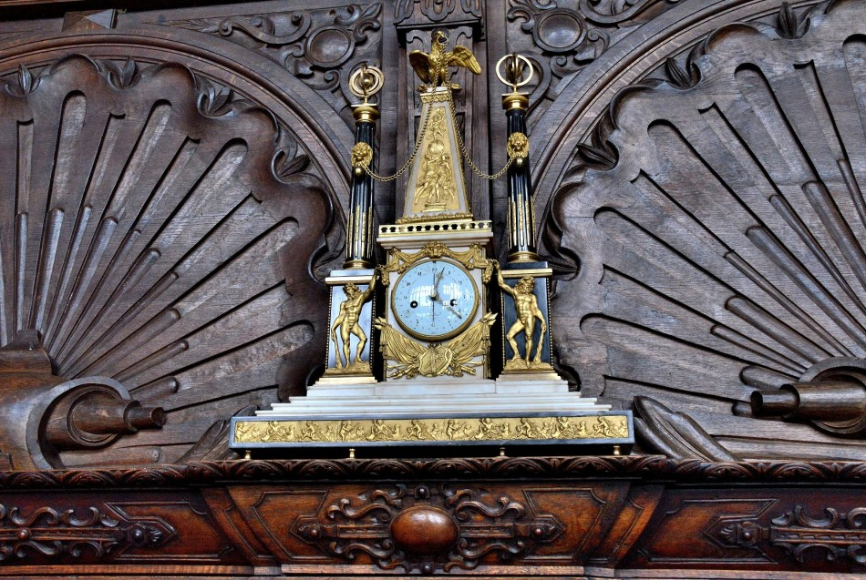 Ornate Clock at Hatfield House