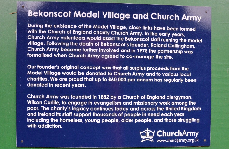 Bekonscott Church Army Sign