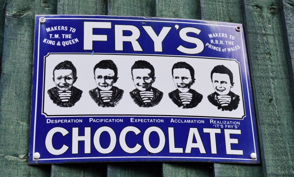 Fry's Chocolate Old Advertising Sign