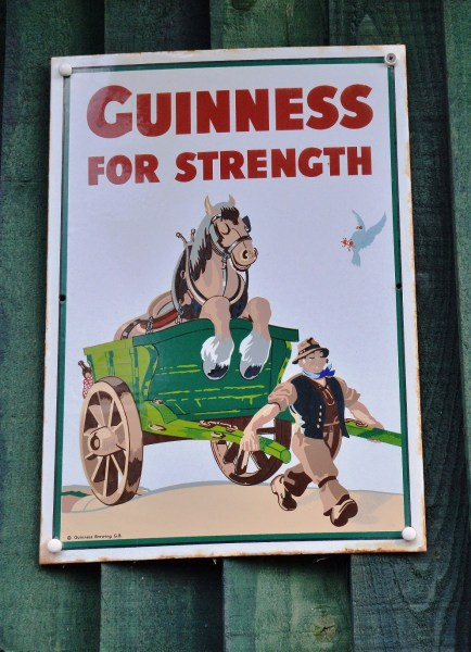 Guiness for Strength Old Advertising Sign