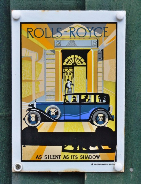 Rolls Royce Old Advertising Sign