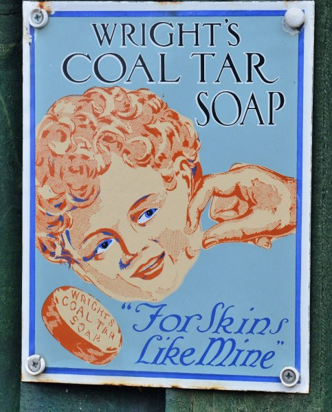 Wights Coal Tar Soap Old Advertising Sign