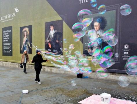 Bubbles at Trafalgar Square