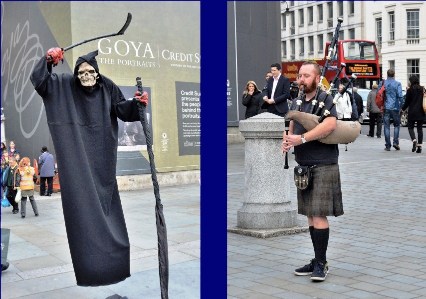 Death and Bagpipes at Trafalgar Square copy