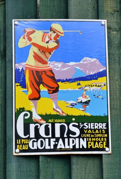 Crans Golf Alpine Vintage Advertising Sign