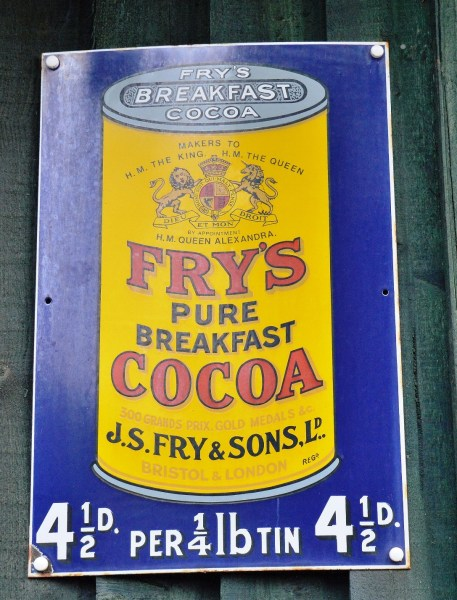 Fry's Cocoa Vintage Advertising Sign