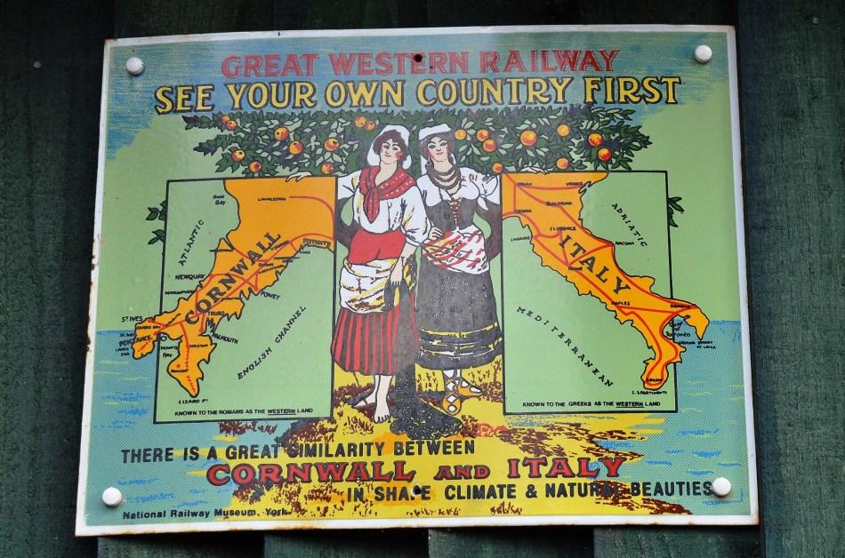 Great Western Railway Vintage Advertising Sign