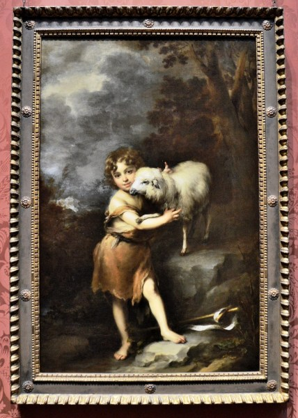 Infant St John with the Lamb by Bartoleme Esteban Murillo