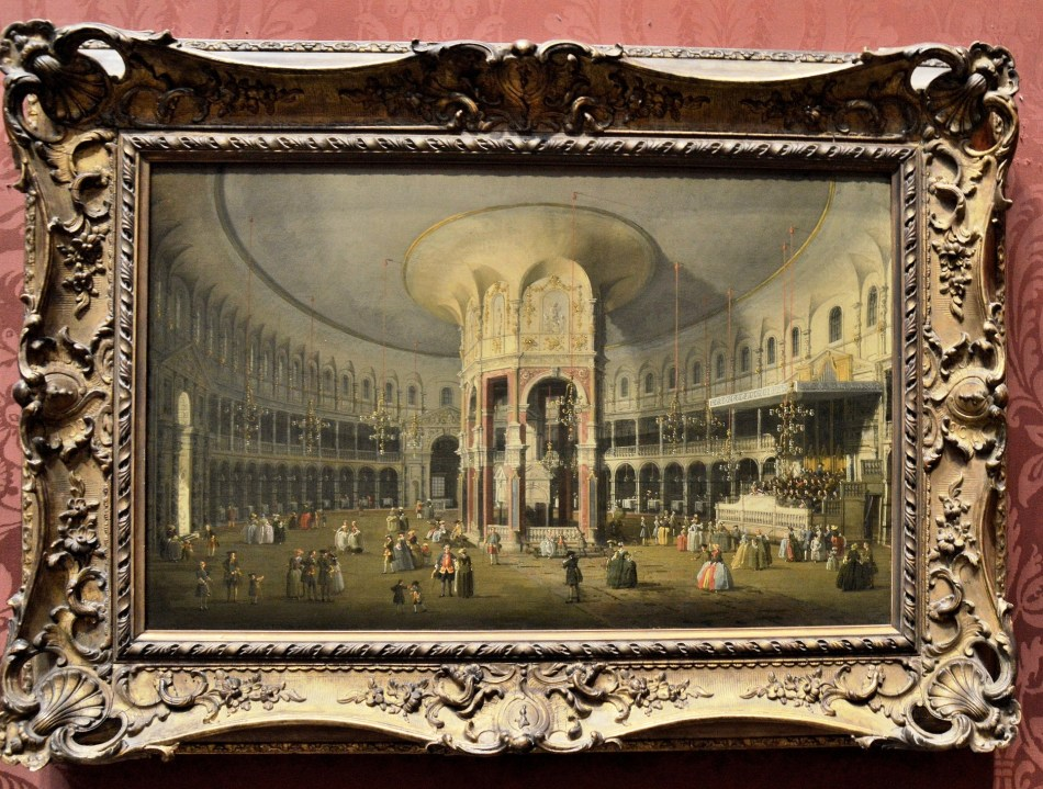 London Interior of the Rotunda at Raneleigh by Canaletto