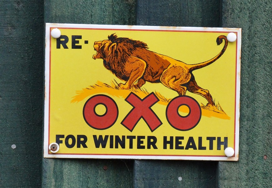 Oxo Vintage Advertising Sign