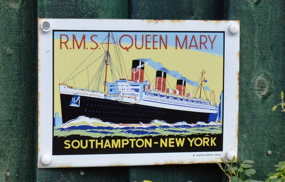 Queen Mary Vintage Advertising Sign
