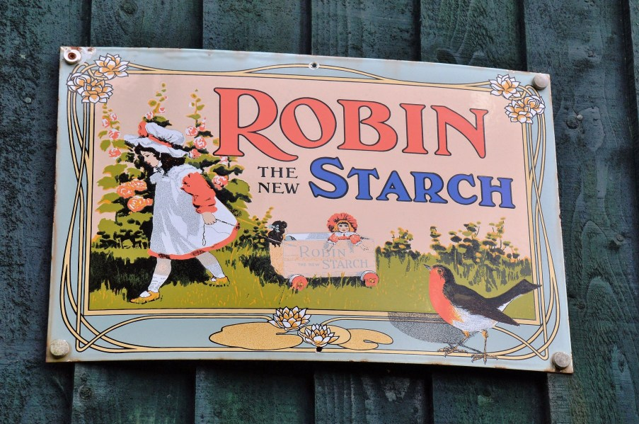 Robin Starch Vintage Advertising Sign