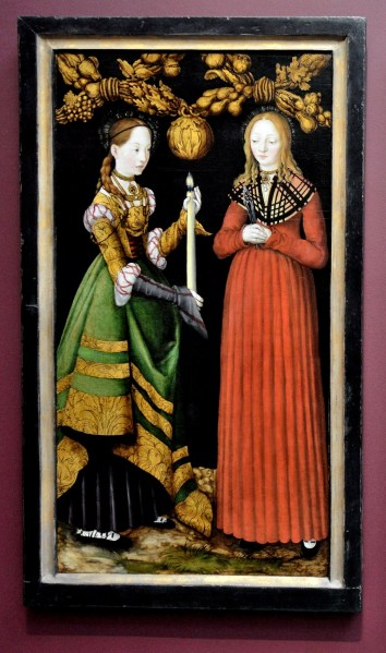 Saints Genevieve and Appollonia by Lucas Cranach the Elder