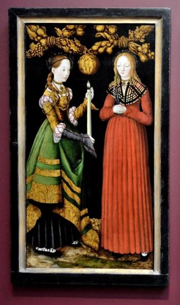 Saints Genevieve and Appollonia by Lucas Cranach the Elder