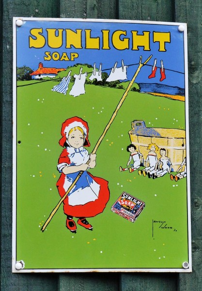 Sunlight Soap Vintage Advertising Sign