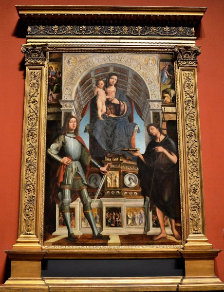 The Virgin and Child with Saints by Lorenzo Costa and Gianfrancesco Maineri