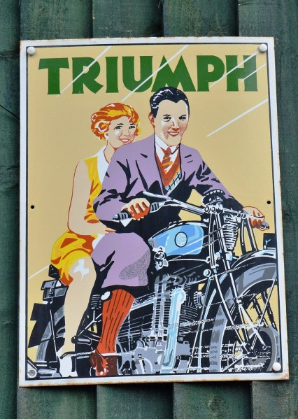 Triumph Vintage Advertising Sign