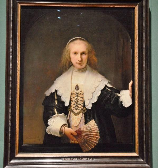 Agatha Bas by Rembrandt van Rijn