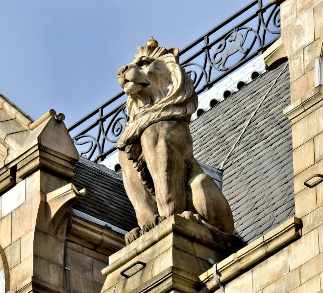 Lion Statue at the Natural History Museum