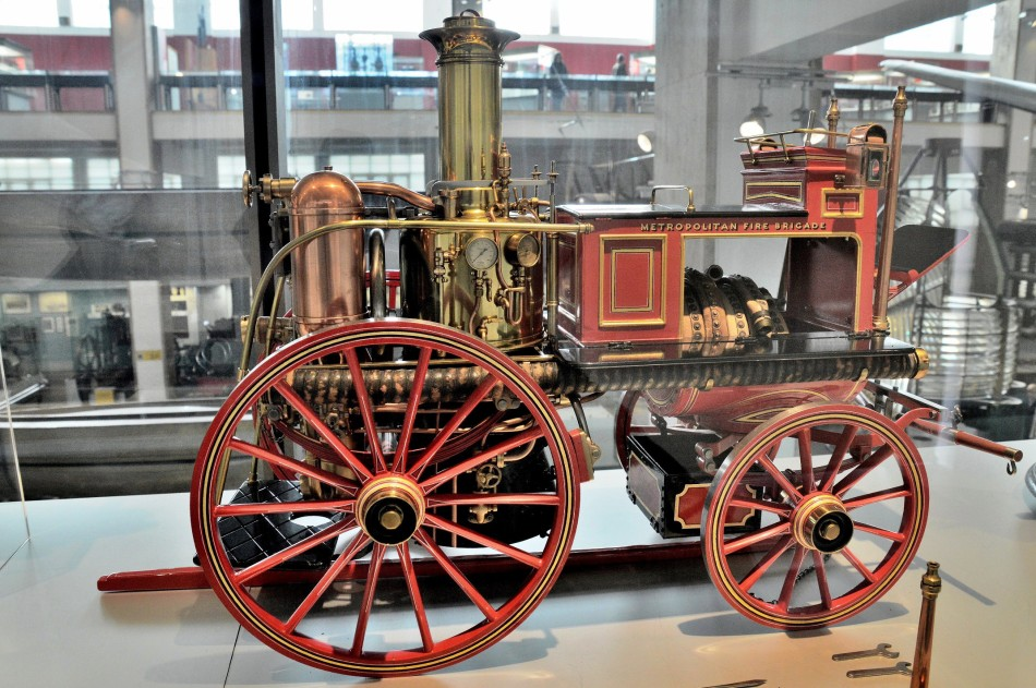 Model of Shand Mason Steam Fire Engine at the Science Museum