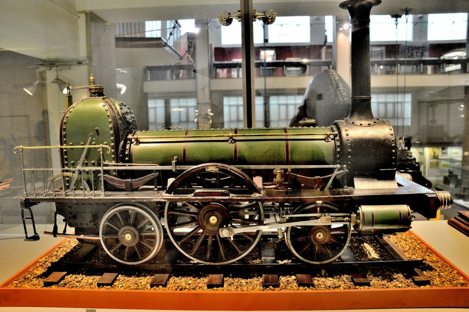 Model of Stephenson's Long Barrel Locomotive