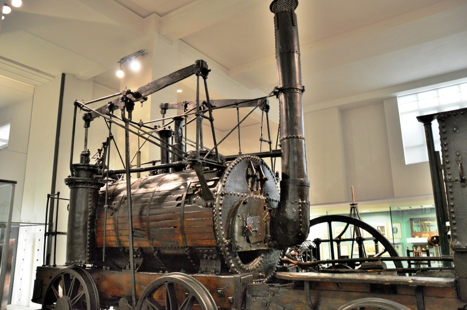 Puffing Billy Locomotive at London Science Museum