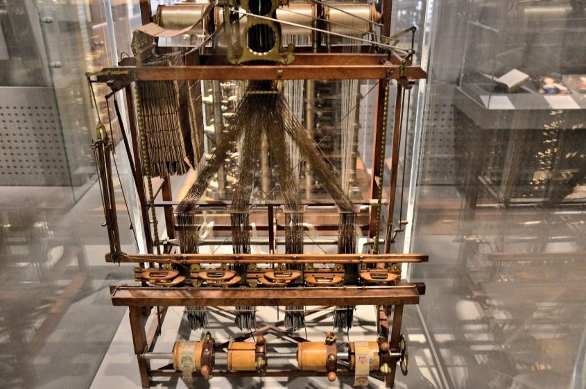 Ribbon Loom by James Heywod using the Jacquard Principle at London Science Museum