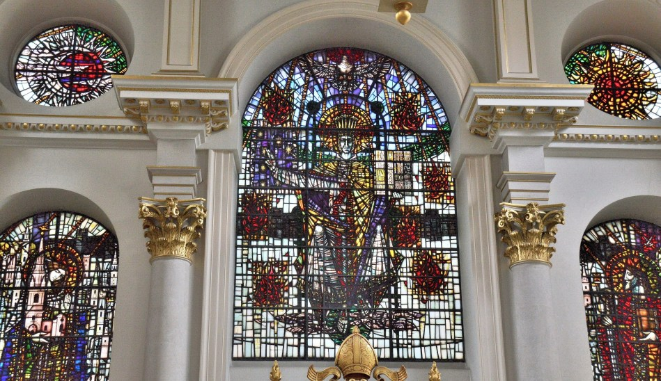 St mary Le Bow Stained Glass 1