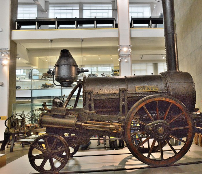Stephenson's Rocket. at London Science Museum