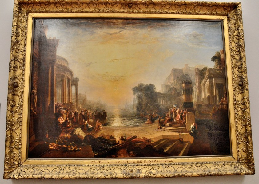 The Decline of the Carthage by Turner at the Tate Britain