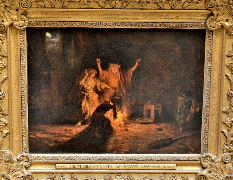 The Witches in Macbeth by Alexandre-Gabriel Decamps at the Wallace Collection