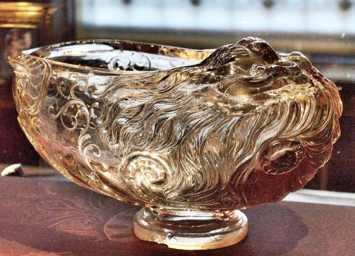 Wallace Collection Smoky Crystal Tazza Bowl