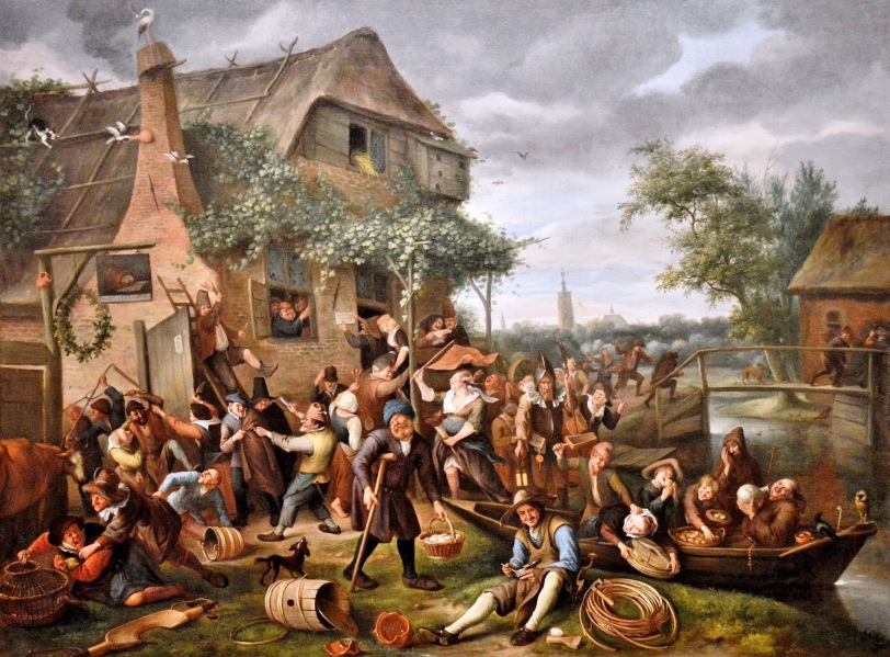 A Village Revel by Jan Steen at the Queen's Gallery
