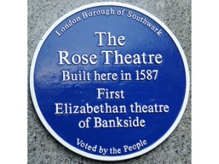 Rose Theatre Plaque