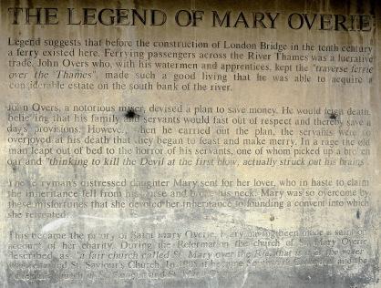 Southwark Cathedral Legend