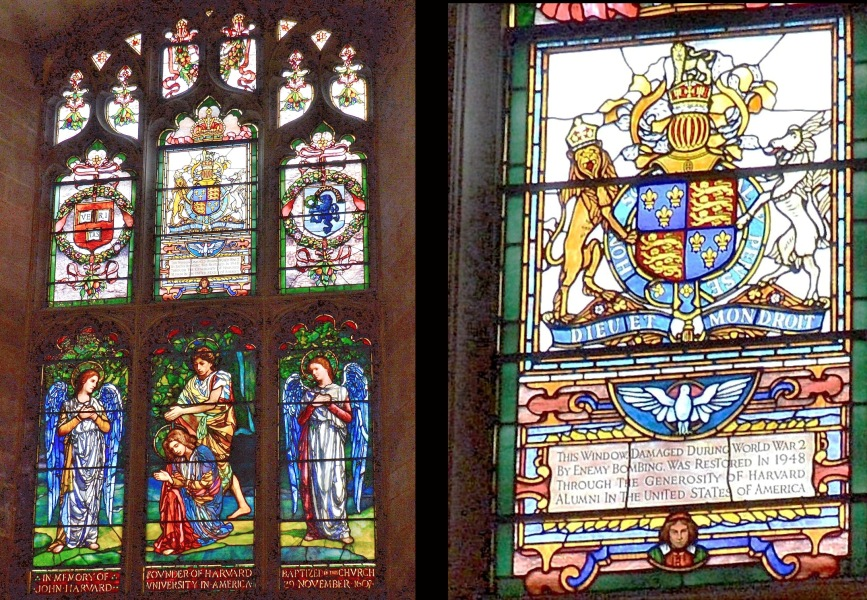Southwark Cathedral Stained Glass Harvard Alumni -