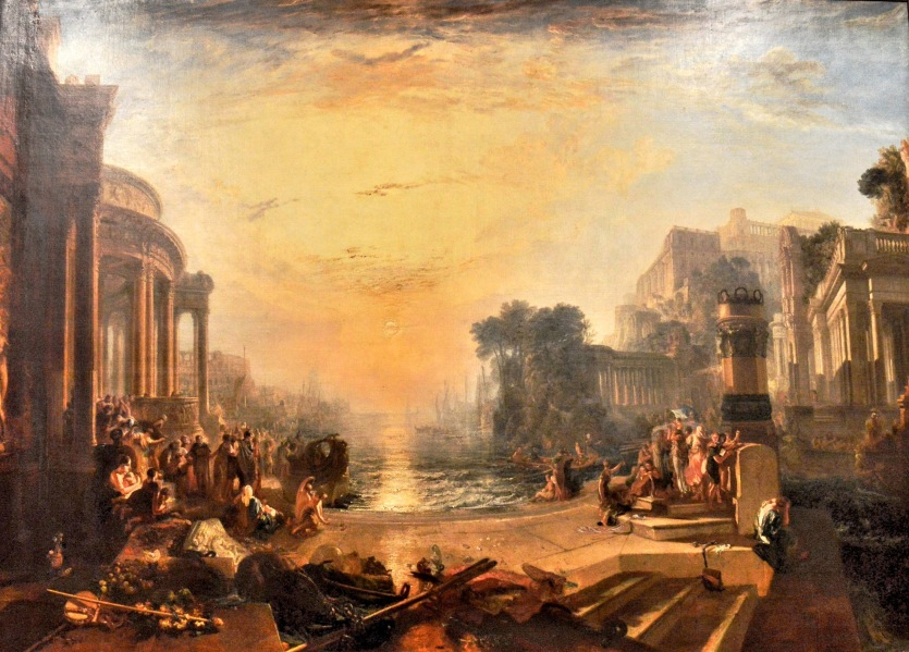 The Decline of Carthage by Turner at the Tate Britain