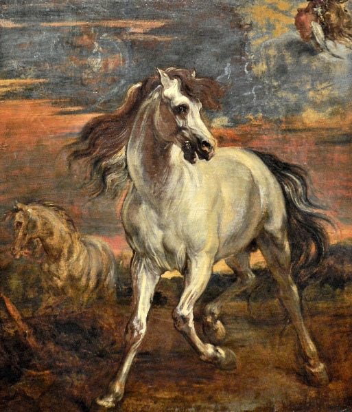 The Horses of Achilles in the style of Anthony van Dyke at the National Gallery