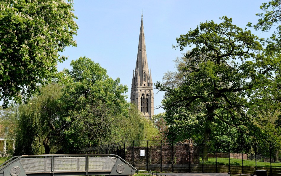 Clissold Park and St Mary's Church